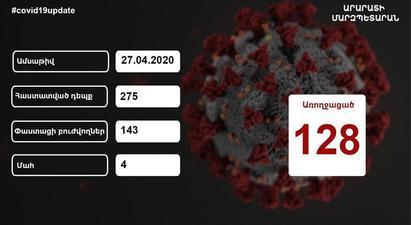 Արարատի մարզում, վերջին տվյալներով, կորոնավիրուսով հաստատված վարակակիրների թիվը 275 է․ Գարիկ Սարգսյան