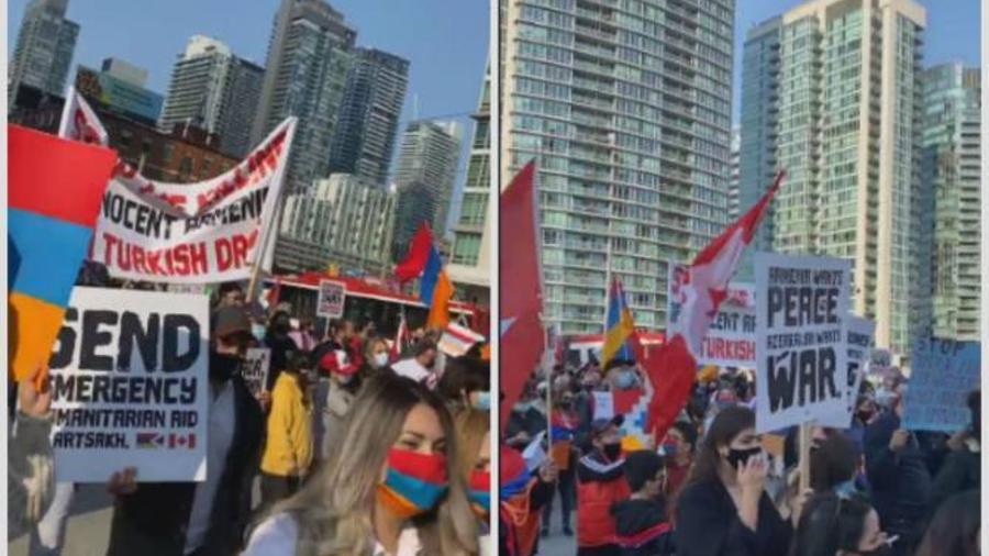 Տորոնտոյում անցկացվում են Թուրքիայի և Ադրբեջանի ագրեսիան կանխելու պահանջով բողոքի ցույցեր   |armenpress.am|