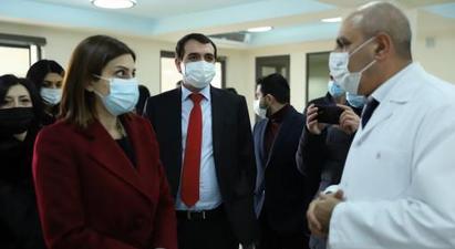 Առողջապահության նախարարը Գյումրիում մասնակցել է թթվածնային կայանի բացմանը