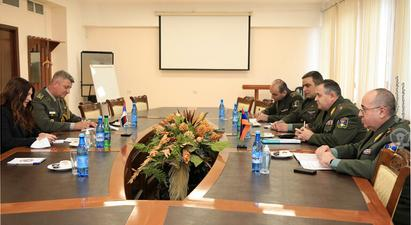 ՀՀ ԶՈՒ Գլխավոր շտաբի պետն ընդունել է ՀՀ-ում Սերբիայի գործերի ժամանակավոր հավատարմատարին