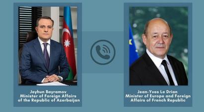 Ադրբեջանի և Ֆրանսիայի ԱԳ նախարարները քննարկել են ադրբեջանահայկական սահմանին վերջին լարվածությունը
