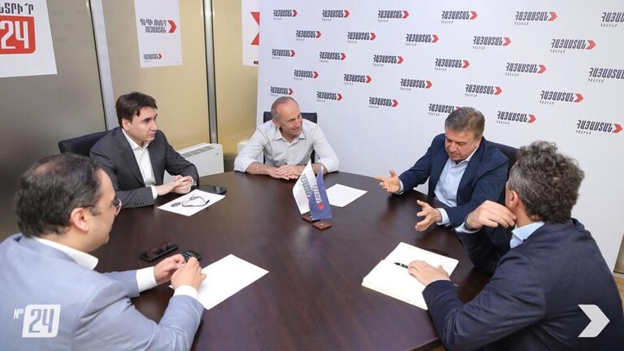 PM candidate Robert Kocharyan meets former PM Karen Karapetyan