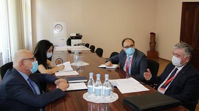 ԿԸՀ նախագահը հանդիպել է ԱՊՀ դիտորդական առաքելության ղեկավարի հետ