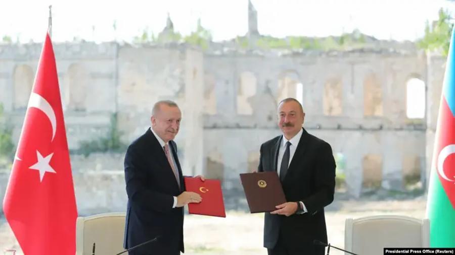 Շուշիի պայմանագրի համաձայն՝ Ադրբեջանն ու Թուրքիան փոխադարձ աջակցություն կցուցաբերեն «երրորդ երկրի ագրեսիայի դեպքում» |azatutyun.am|