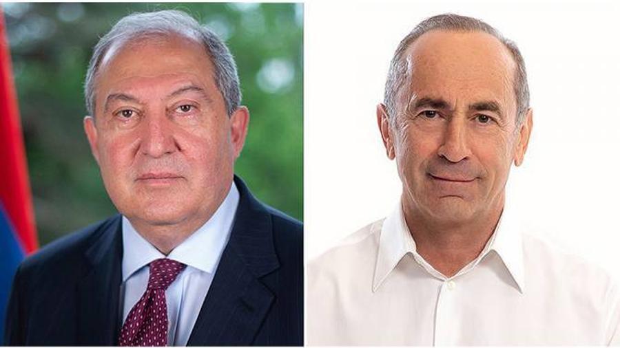 President Armen Sarkissian holds phone call with Robert Kocharyan