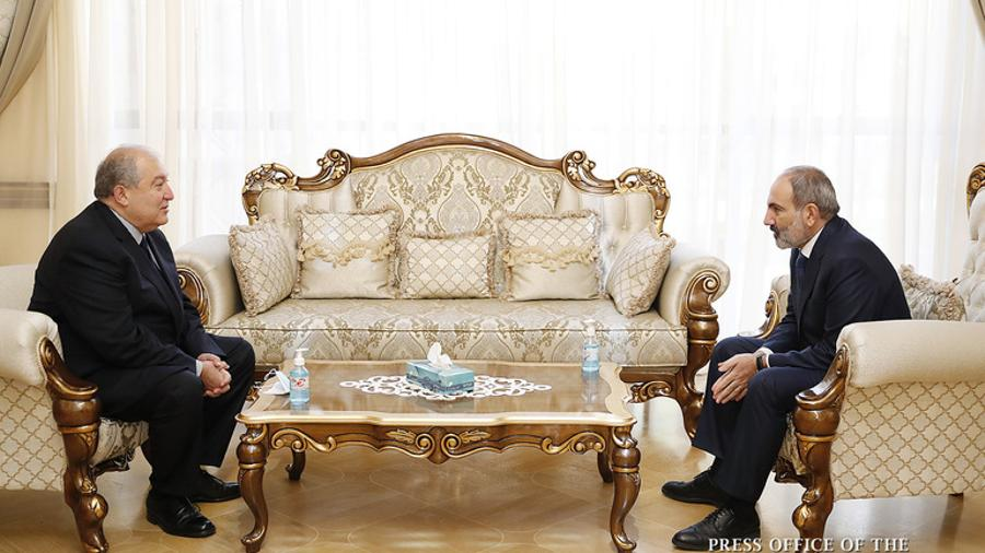 President Armen Sarkissian congratulated Pashinyan on winning the elections