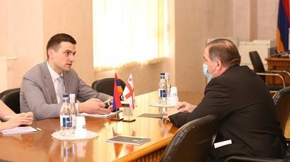 ՏԿԵ նախարարի տեղակալը ՀՀ-ում Վրաստանի դեսպանի հետ քննարկել է տրանսպորտային համագործակցությանն առնչվող հարցեր