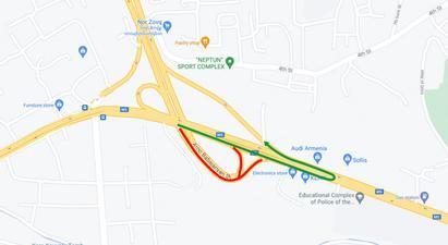 Հուլիսի 19-ից Իսակովի պողոտայի Էջմիածին-Երևան ուղղությունից դեպի Ա. Բաբաջանյան փողոց ուղղությունը կփակվի 3 ամսով