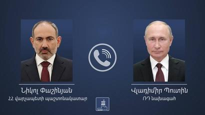 Nikol Pashinyan held a telephone conversation with Russian President Vladimir Putin