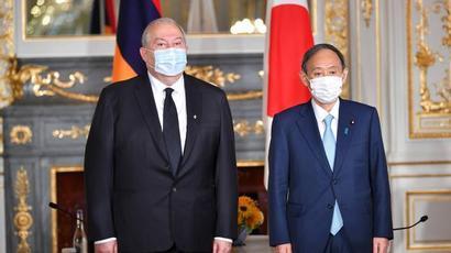 Հայաստանը ցանկանում է Ճապոնիայի հետ հարաբերություններին նոր որակ հաղորդել․ Արմեն Սարգսյանը հանդիպել է Ճապոնիայի վարչապետ Սուգա Յոշիհիդեի հետ
