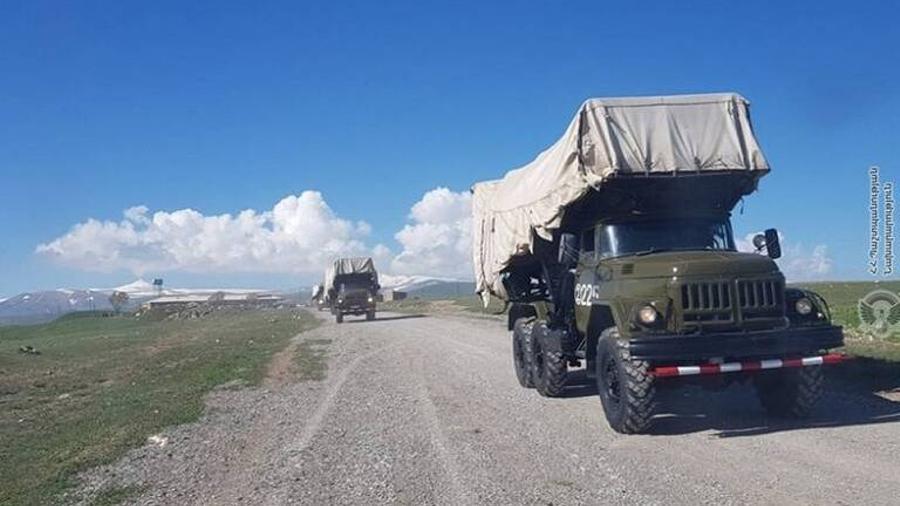 ԶՈւ հակաօդային պաշտպանության զորամասերից մեկի մասնակցությամբ անցկացվել են ճամբարային հավաքներ