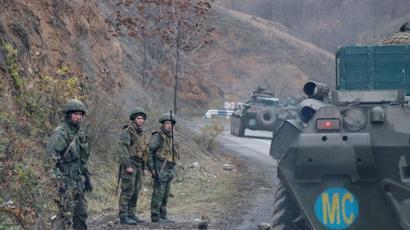 Ռուս խաղաղապահներն ադրբեջանական շինարարական տեխնիկա տեղափոխող 2 շարասյուն են ուղեկցել Լեռնային Ղարաբաղում. ՌԴ ՊՆ |tert.am|