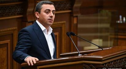 Իշխան Սաղաթելյանը երկրորդ անգամ ևս չընտրվեց ԱԺ փոխնախագահ |armenpress.am|