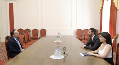 Ռուբեն Ռուբինյանը Չինաստանի դեսպանին ներկայացրել է ՀՀ ինքնիշխան տարածքի հանդեպ Ադրբեջանի ոտնձգությունների հետևանքով ստեղծված իրավիճակը