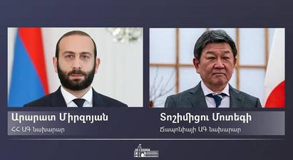 Ճապոնիայի ԱԳ նախարար Տոշիմիցու Մոտեգին շնորհավորական ուղերձ է հղել Արարատ Միրզոյանին