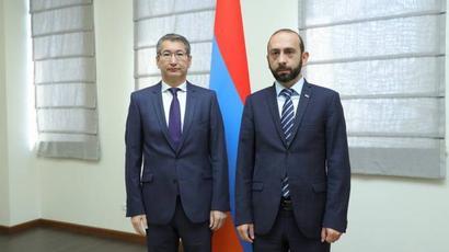 Միրզոյանը Ղազախստանի դեսպանին է ներկայացրել Ադրբեջանի կողմից ՀՀ տարածք ներթափանցման հետևանքով ստեղծված իրավիճակը