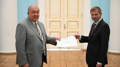 Արմեն Սարգսյանին հավատարմագրերն է հանձնել Հայաստանում Բելգիայի Թագավորության դեսպան Մարկ Միխիլսենը