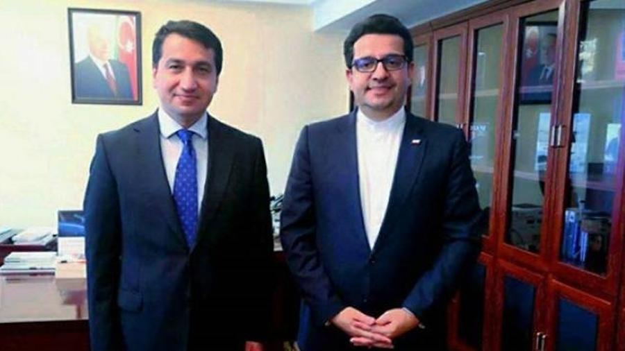 Հանդիպել են Ադրբեջանի նախագահի օգնականն ու Ադրբեջանում Իրանի դեսպանը  armenpress.am 