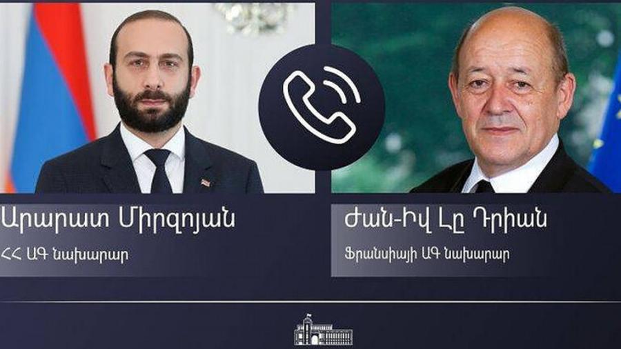 ՀՀ և Ֆրանսիայի ԱԳ նախարարներն անդրադարձել են ԼՂ հակամարտությանը և Հայաստանի ինքնիշխան տարածք ադրբեջանական զինված ուժերի ներթափանցման հետևանքով ստեղծված իրավիճակին