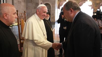 Աղոթում եմ, որ օրհնվեն բոլոր այն մարդկանց ջանքերը, ովքեր աշխատում են հանուն ժողովրդի անվտանգության և բարգավաճման. Հռոմի պապը շնորհավորական ուղերձ է հղել նախագահին
