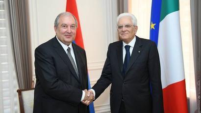 Իտալիան վստահությամբ է նայում ՀՀ-ի հետ հարաբերությունների ապագային. Արմեն Սարգսյանին շնորհավորել է Իտալիայի նախագահ Մատարելլան