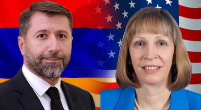 Կարեն Անդրեասյանն ու ԱՄՆ դեսպանը քննարկել են դատաիրավական, հակակոռուպցիոն և թվայնացման ոլորտների բարեփոխումները