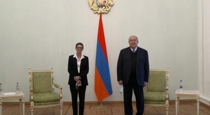 Ֆրանսիայի նորանշանակ դեսպանը հավատարմագրերն է հանձնել Արմեն Սարգսյանին