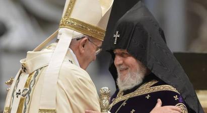 Ամենայն Հայոց Կաթողիկոսն Իտալիայում հանդիպում կունենա Ֆրանցիսկոս Պապի հետ