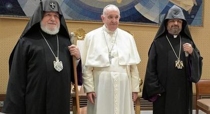 Ամենայն Հայոց Կաթողիկոսը Հռոմի Պապի հետ հանդիպմանը շեշտադրել է գերիների վերադարձի խնդիրը