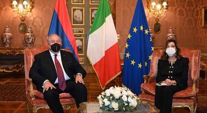 Շահագրգռված ենք առավել սերտացնել կապերը խորհրդարանների միջև. ՀՀ նախագահը հանդիպել է Իտալիայի Սենատի նախագահի հետ