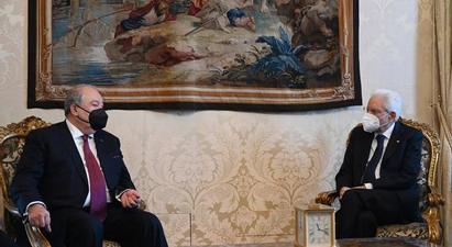 Արմեն Սարգսյանն ու Սերջո Մատարելլան անդրադարձել են ՀՀ-ի և Իտալիայի միջև առևտրատնտեսական հարաբերություններին |armenpress.am|