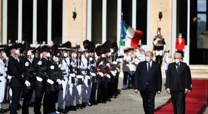 Քուիրինալե պալատում տեղի է ունեցել նախագահներ Արմեն Սարգսյանի և Սերջո Մատարելլայի հրաժեշտի հանդիպումը