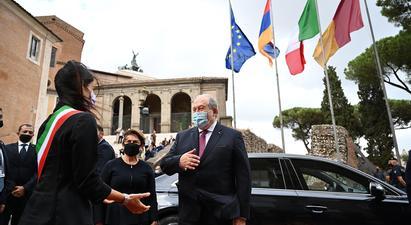 Միասին մենք շատ բան կարող ենք անել. նախագահ Արմեն Սարգսյանը  հանդիպում է ունեցել Հռոմի քաղաքապետ Վիրջինիա Ռաջիի հետ