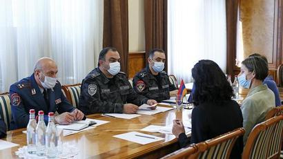 Ոստիկանության պետն ընդունել է ԵԽ երևանյան գրասենյակի ղեկավարին