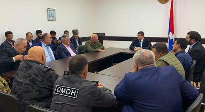 Արցախի նախագահը շարունակում է հանդիպումները հայրենիքի պաշտպանությանը մասնակցած կամավորական ջոկատների հետ