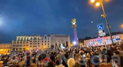 Թբիլիսիում տեղի է ունեցել Սաակաշվիլիին ազատ արձակելու պահանջով մեծամասշտաբ բողոքի ցույց |armtimes.com|