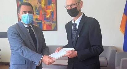 Մալթայի Հանրապետության դեսպանն իր հավատարմագրերի պատճենն է հանձնել ՀՀ ԱԳ նախարարի տեղակալին