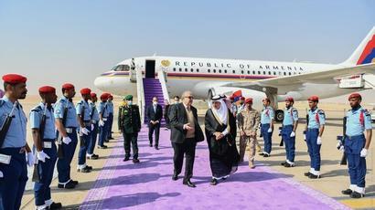ՀՀ նախագահ Արմեն Սարգսյանը պատմական այց է կատարել Սաուդյան Արաբիա