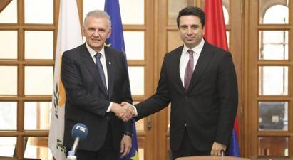 Հայաստան-Կիպրոս-Հունաստան եռակողմ հարաբերությունները Կիպրոսի առաջնահերթություններից են. հանդիպել են Ալեն Սիմոնյանն ու Կիպրոսի նախագահի հանձնակատարը