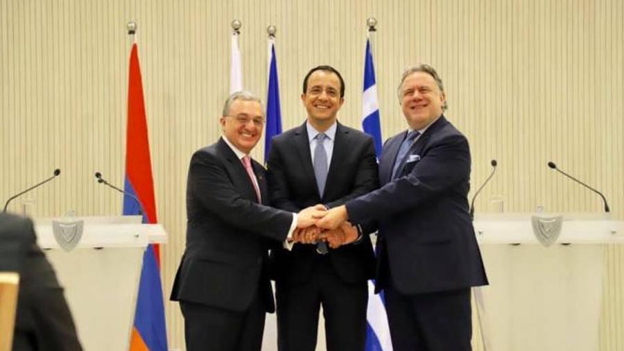 Հայաստանի, Հունաստանի և Կիպրոսի ԱԳ նախարարները ամփոփել են եռակողմ հանդիպման արդյունքները |armenpress.am|